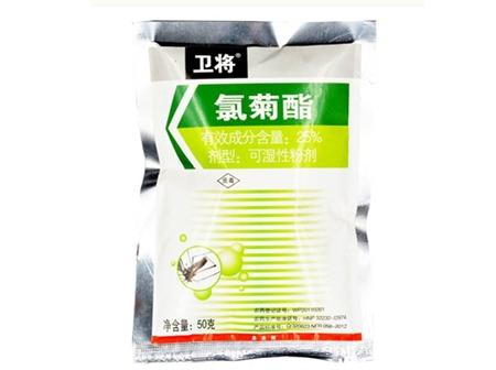 25%氯菊酯可湿性粉剂