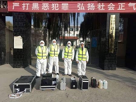 赵庄联办小学消毒除菌